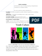 Youth culture ІІ курс 7 тема