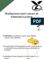 Educație Fizică Și Sport - Desfășurarea unui concurs de Gimnastică Școlară