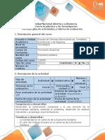 Guía de actividades y rúbrica de evaluación - Fase 3 - Centralizar el desarrollo humano en la economía solidaria