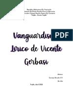 Vanguardismo Lirico de Vicente Gerbasi