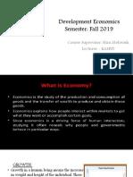 Introduction to Development  Economics