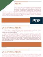 Derecho Mercantil II TITULOS FACTURA CAMBIARIA