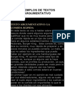 501 DE TEXTOS ARGUMENTATIVOS