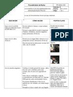 Uso e Inspeccion de herramientas manuales eléctricas