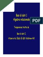04-0 Algebra relazionale capito 3 libro Atzeni