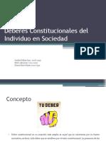 Deberes Constitucionales del Individuo en Sociedad