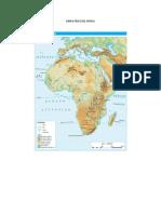 MAPA FÍSICO DE AFRICA