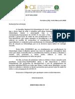 OFÍCIO CIRCULAR CRO-CE Nº 001-2020(ATENDIMENTO ODONTOLÓGICO x COVID-19) CM ALTERAÇÕES