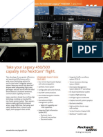 Pro Line Fusion Embraer Legacy 450 and 500 Data sheet