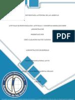 ACTIVIDAD DE PROFUNDIZACIÓN- Actividad 4 Conceptos generales sobre Administración