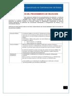 3. Documentos del Procedimiento de Seleccion