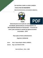 HUELLA DE CARBONO DE MUNICIPALIDAD