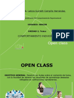 Open Class 2. Comportamiento Individual.