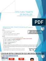 PROCEDIMIENTO PARA TRAMITE DE BACHILLER Y TITULO ACTUALIZADO.pptx