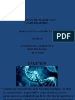 LA RELACION ENTRE GENETICA Y COMPORTAMIENTO ACTIVIDAD 7 BIOLOGIA