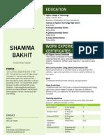 Shamma's Resume