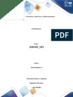 Tarea 1- Vectores, matrices y determinantes