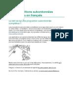 Les propositions subordonnées complétives en français
