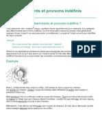 Les déterminants et pronoms indéfinis français