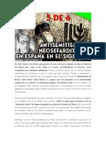 Antisemitismo español y sefarditismo en el siglo XX (5 de 6) - ANTISEMITISMO DURANTE EL FRANQUISMO
