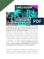 Antisemitismo español y sefarditismo en el siglo XX (CONCLUSION) - ¿ANTISEMITISMO EN DEMOCRACIA