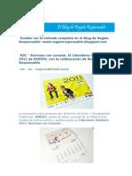 Calendario ASSIDO 2011 - SONRISAS CON CORAZÓN - Con la colaboración de Regalo Responsable