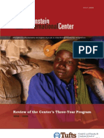 Review of the Center's Three Year Program