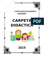 CARPETA  DIDACTICA  2019