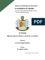 Migracion interna en Mexico y causas de su movilidad