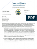 Butler County Commissioners' Letter to Gov. Tom Wolf