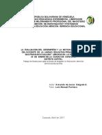 I Parte - LA  EVALUACIÓN DEL  DESEMPEÑO Y  LA  MOTIVACIÓN LABORAL DEL DOCENTE - Armando Delgado
