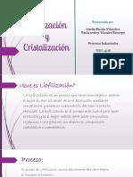 Liofilización y Cristalización