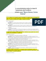 Informe de conocimientos sobre la clase 6 Tratamiento del Conflicto