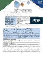 Guía de actividades y rúbrica de evaluación - Tarea 1 - Medición y cinemática.pdf