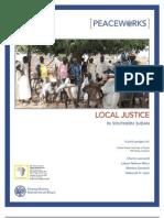 Local Justice in Southern Sudan