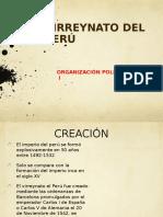 Virreynato Org. Politica