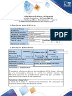 Guía de actividades y rúbrica de evaluación - Tarea 3 - Mantenimiento Preventivo del Computador.docx
