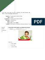 Task 1 - Prior Knowledge Assessment1