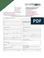 2011 YAI Application