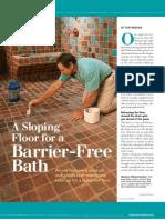 Sloping Floor Barrier Free Bath