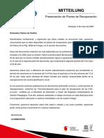 Comunicado PPFF Presentación de Reprogramaciones
