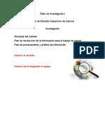Bosquejo del método   ,  PLAN DE RECOLECCIÓN DE LA INFORMACIÓN PARA EL TRABAJO DE CAMPO
