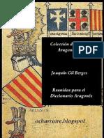 Colección de Voces Aragonesas  de Joaguín Gil Berges