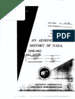 An Administrative History of NASA, 1958-1963.
