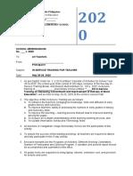 2. school memo INSET MAY 2020