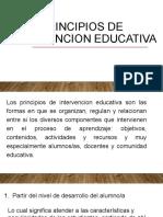 Principios de intervencion educativa