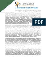 INTERNATIONA BUSINESS AND TRADE MODULE 1