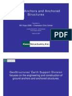 Ground Anchors and Anchored Structures Seminar