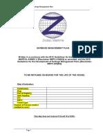 Ship's Garbage Management Plan (April 2018) - Apr 18.doc