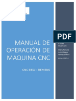 Elaboración de Manual de Operación